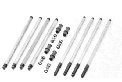 V-Twin 7131-12 - Colony Solid Pushrod Kit with Adapters