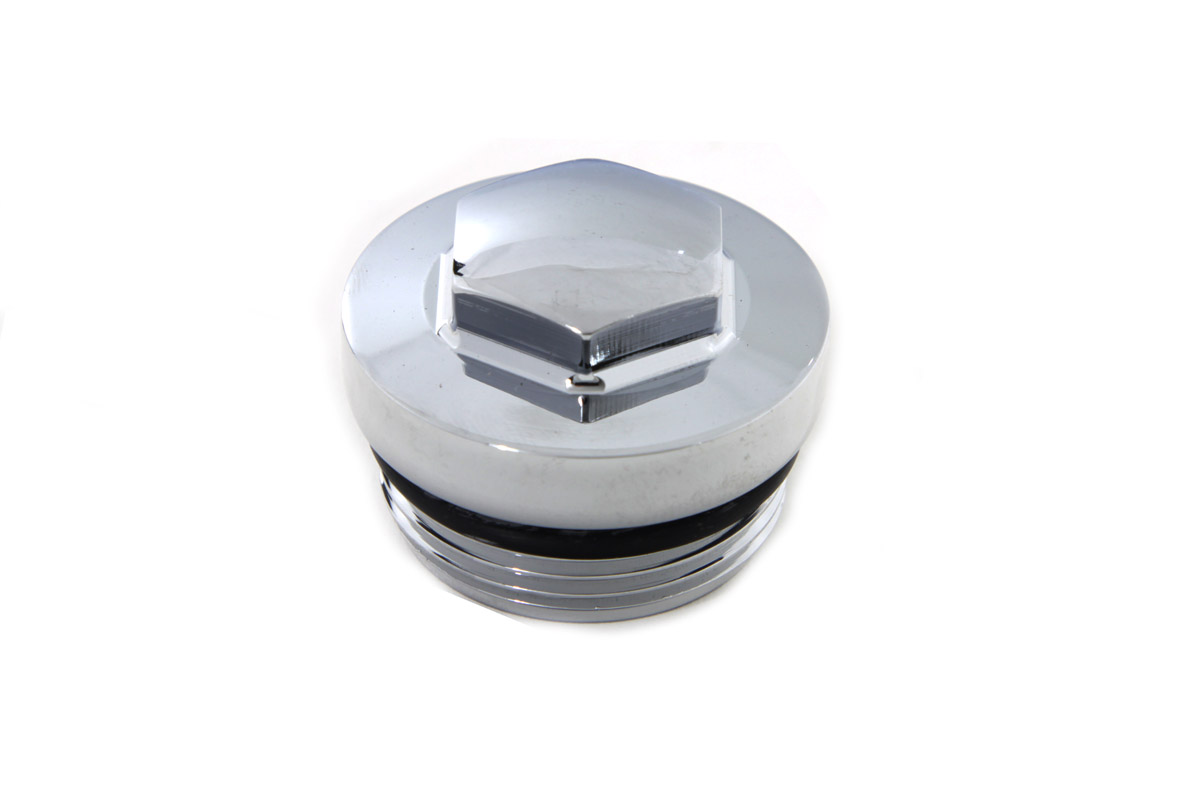 V-Twin 7809-2 - Chrome Primary Cover Filler Cap