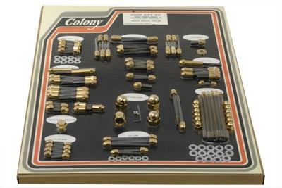 V-Twin 7921-G - Gold Engine Dress Up Acorn Bolt Kit