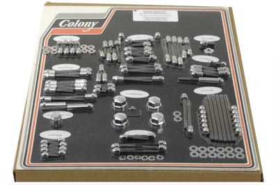 V-Twin 7921 - Chrome Engine Dress Up Acorn Bolt Kit
