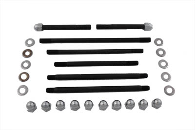 V-Twin 8124-34 - Motor Case Bolt Kit Acorn Chrome