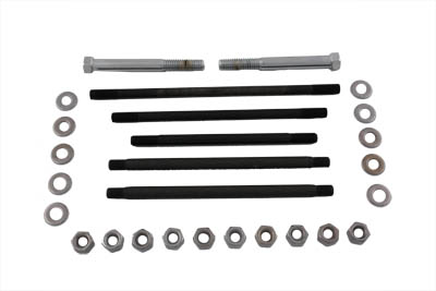 V-Twin 8125-34 - Motor Case Bolt Kit Stock Chrome