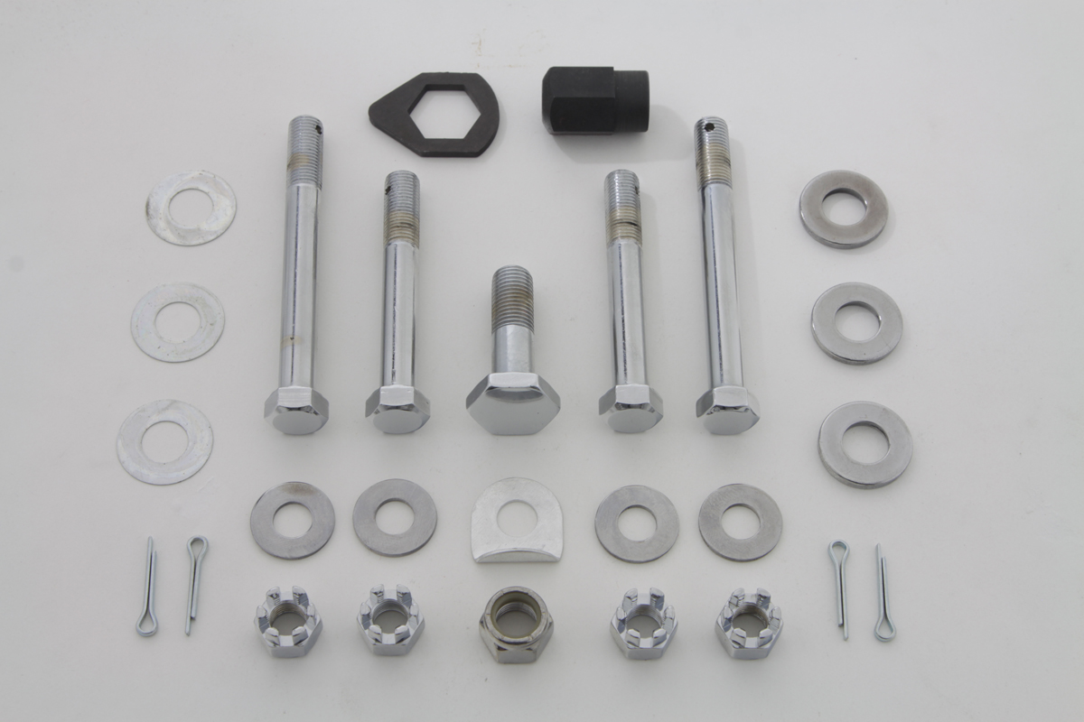 V-Twin 8164-19 - Upper and Lower Motor Mount Bolt Kit Chrome