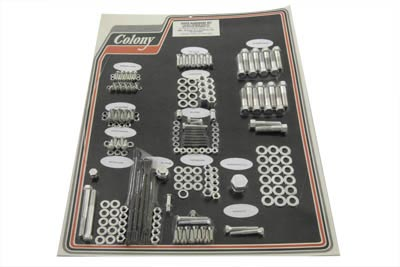 V-Twin 8304 CAD - Chrome Stock Style Hardware Kit for Cast Iron