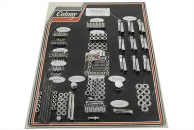 V-Twin 8304 CHR - Chrome Stock Style Hardware Kit for Cast Iron