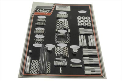 V-Twin 8306 CAD - Cadmium Stock Style Hardware Kit for Aluminum