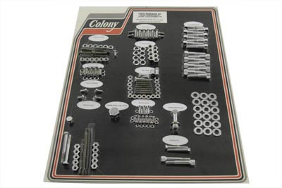 V-Twin 8308 CHR - Chrome Stock Style Hardware Kit for Cast Iron
