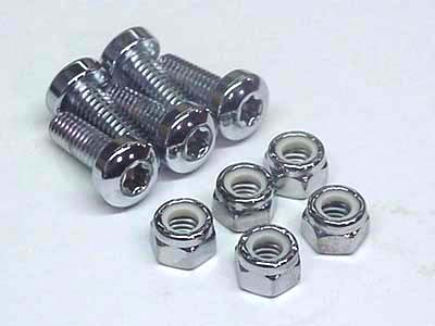 V-Twin 8794-10T - Chrome Front Disc Rotor Bolt Set