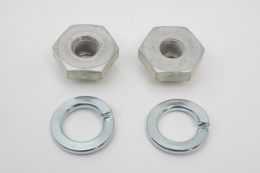 V-Twin 8874-2T - Seat Post Rod Lock Nut and Lock Washer