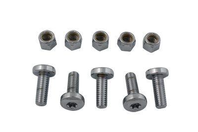 V-Twin 9807-10T - Rear Disc Bolt and Nut Kit Chrome