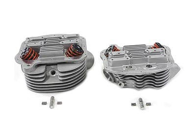 V-Twin 10-1074 - Panhead Cylinder Heads with Valves