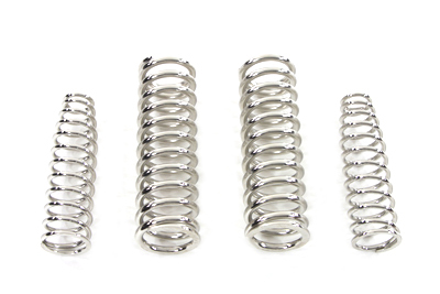 V-Twin 13-0787 - Replica Spring Fork Spring Set Nickle Plated