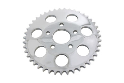V-Twin 19-0047 - Chrome 43 Tooth Rear Sprocket