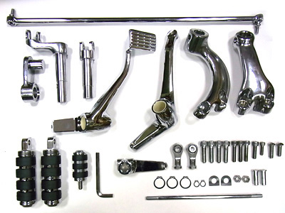V-Twin 22-0799 - Chrome Extended Forward Control Kit