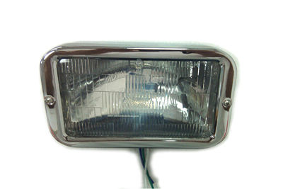 V-Twin 33-1323 - Complete Caddy 12V Bottom Mount Headlamp with B