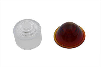 V-Twin 33-2154 - Tail Lamp Lens Set Cone Style Glass Red and Cle