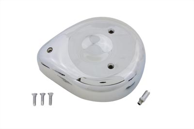 V-Twin 34-0516 - Chrome Tear Drop Air Cleaner Assembly