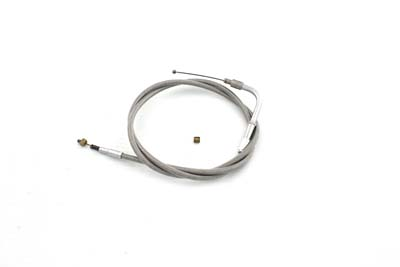 "V-Twin 36-1566 - Braided Stainless Steel Idle Cable with 42"" Cas"