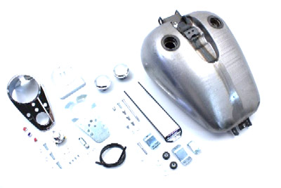 V-Twin 38-0190 - Bobbed 4.0 Gallon Gas Tank Kit