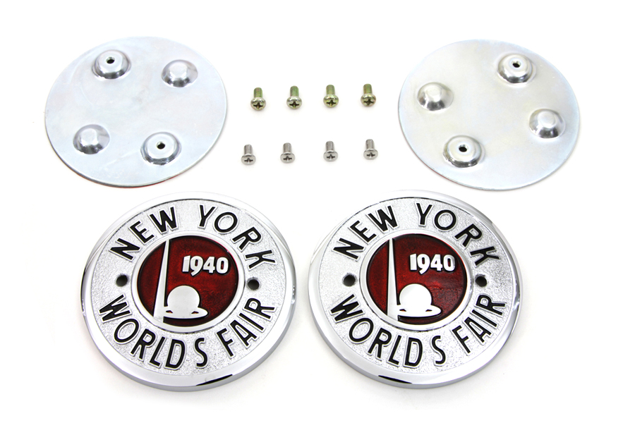 V-Twin 38-0944 - World's Fair Tank Emblem Set
