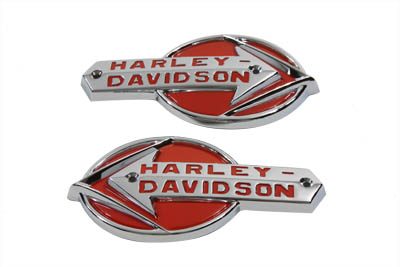 V-Twin 38-6670 - OE Emblem Set with Red Lettering