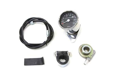 V-Twin 39-0555 - Mini 60mm Speedometer with 2:1 Ratio