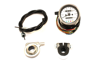 V-Twin 39-0556 - Mini 60mm Speedometer with 2:1 Ratio