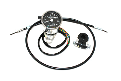 V-Twin 39-0578 - Mini 60mm Speedometer with 2:1 Ratio