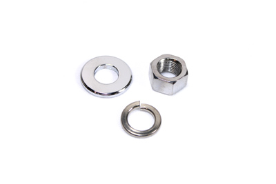 V-Twin 44-0599 - Chrome Front Axle Nut and Washer Kit