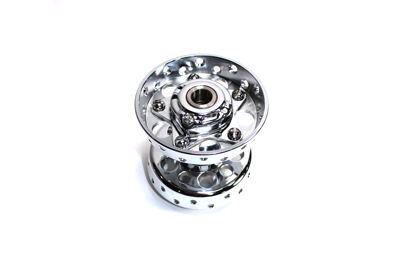 V-Twin 45-0330 - Chrome Replica Wheel Hub Star Type