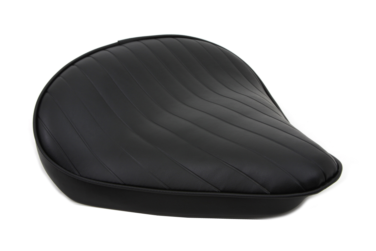V-Twin 47-0057 - Black Tuck and Roll Solo Seat Large