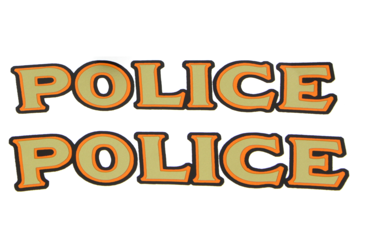 "V-Twin 48-1981 - Front Fender ""Police"" Decal Set"