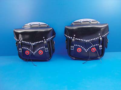 V-Twin 48-3156 - Rigid Loctite Saddlebags Black