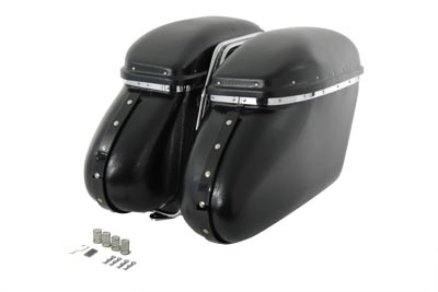 V-Twin 49-2499 - Black Magic Royalite Saddlebag Set