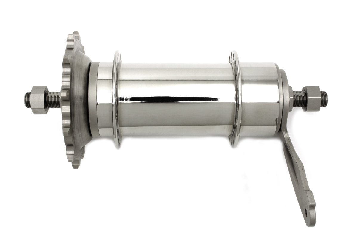 V-Twin 49-5511 - Nickel Plated Thor Rear Hub Assembly
