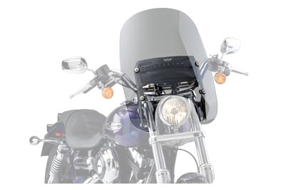 V-Twin 51-0287 - Spartan Quick Release Windshield Clear