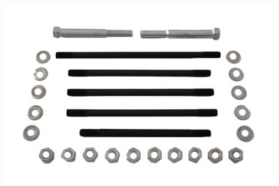 V-Twin 8123-34 - Motor Case Bolt Kit Stock Cadmium