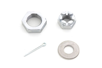 V-Twin 8162-3T - Front Axle Nut Kit Chrome